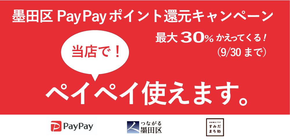 墨田区PayPay還元キャンペーン